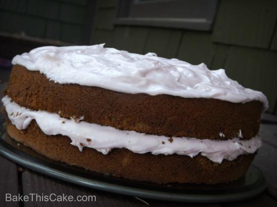 Vintage Maraschino Cherry Cake on River House Bench BakethisCake