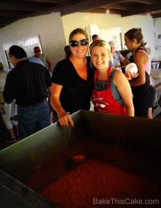 Volunteers Serving Baked Beans at Snelling Homecoming BBQ Bake This Cake