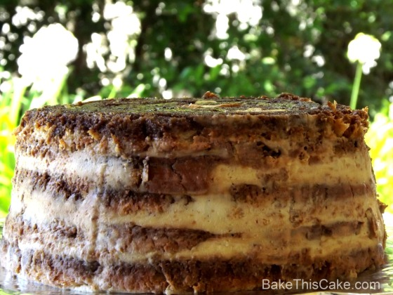 Bread Pudding Tiramisu in the garden Bake this Cake