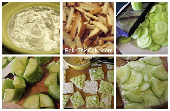 Cucumber Tea Sandwich Collage Bake This Cake