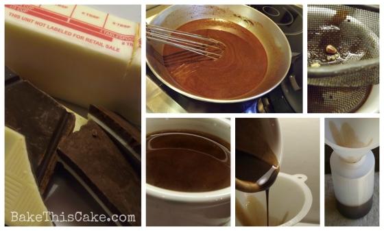 Making Chocolate Glaze Collage Bake This Cake