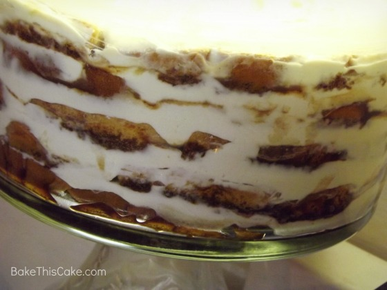 Refrigerating the Opera Tiramisu Bread Pudding Cake Bake This Cake