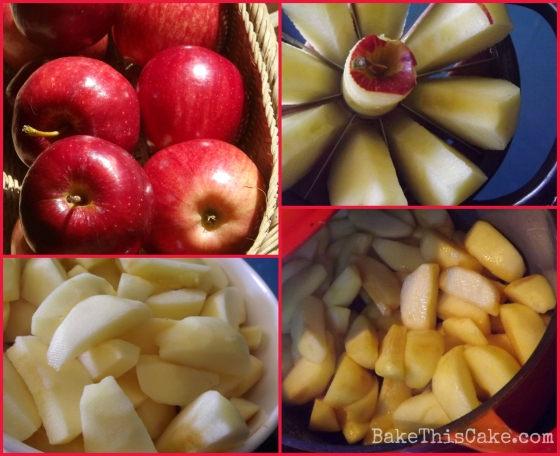 3 pound Apple Filling Prep Collage BakeThisCake
