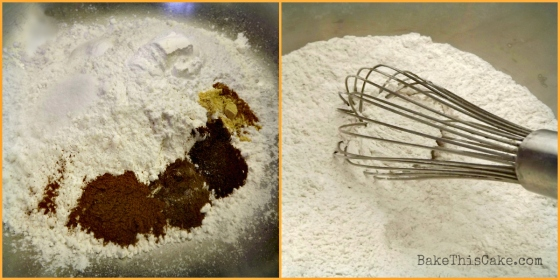 Dry Ingredients Collage for Pumpkin Spice Cake Bake This Cake