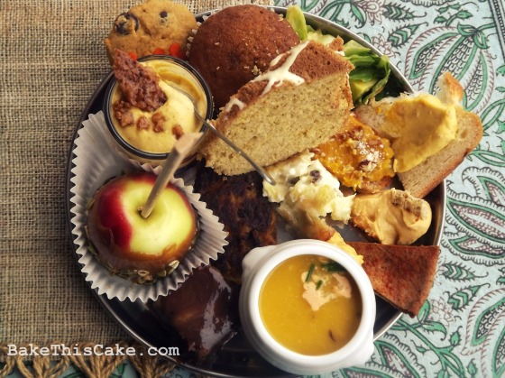 Food Bloggers Los Angeles Pumpkin Party Buffet Plate Bake This Cake