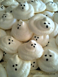 Ghost meringue Halloween cookies Bake This Cake