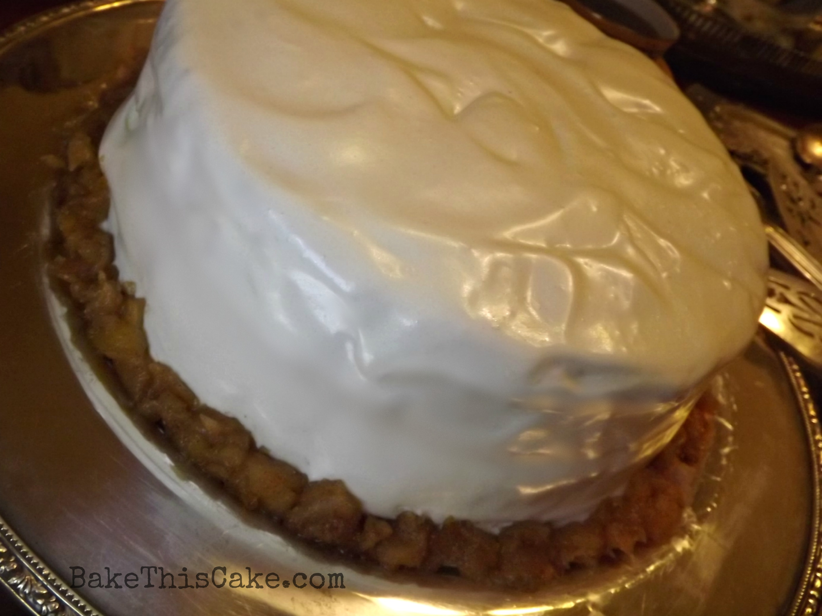 Sour Cream Apple Cake No Butter