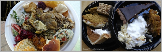 FBLA Food Blogger's Thanksgiving Collage of Food Sampling Bake This Cake