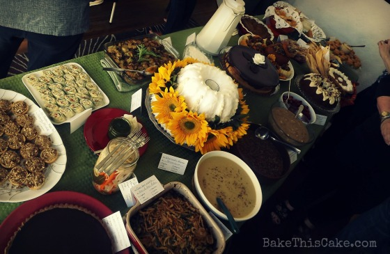 FBLA Food Blogger's Los Angeles Thanksgiving Buffet Table Bake This Cake