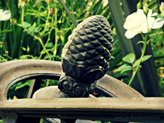 Iron Pineapple Bannister designed by Mark Odell photo for Bake This Cake