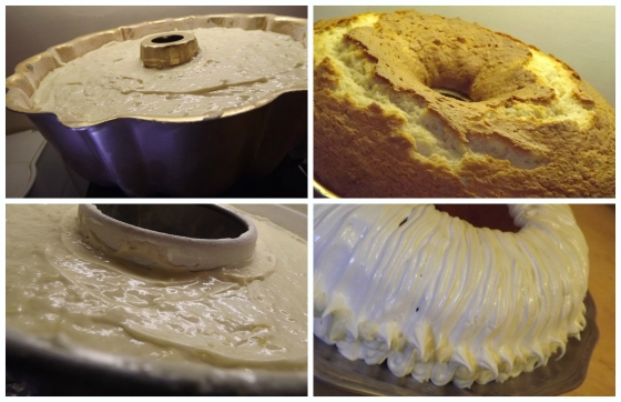 Pineapple Cake Batter into baking pans Bake This Cake
