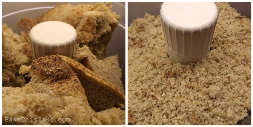 Pulsing Bread into Breadcrumbs for Cake and Cookies Bake This Cake