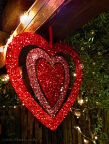 Hanging Glitter Heart photo by Leslie Macchiarella