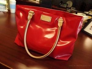 Red Kate Spade Purse photo by Leslie Macchiarella