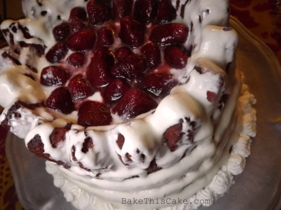 Red Velvet Cake recipe crown filled with beets Bake This Cake