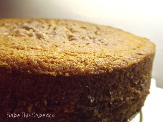 Vintage Boston Butter Sherry Cake hot from the oven bake this cake