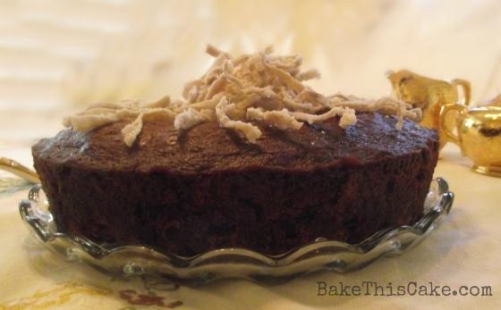 Edith Roosevelt's Yosemite Clove Cake side view bakethiscake
