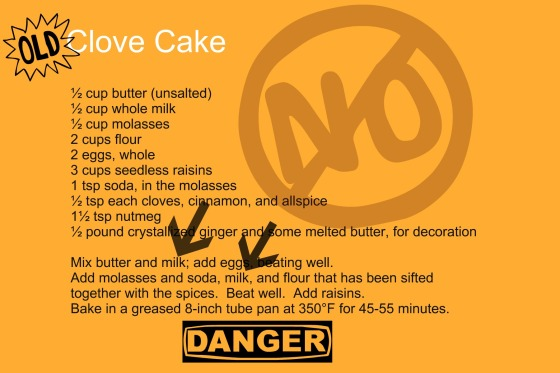 Recipe Error Discovered in Mrs Roosevelt's Clove Cake Recipe Bake This Cake