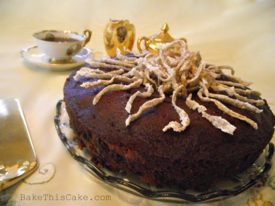 Mrs Teddy Roosevelt's Clove Cake with candied ginger bake this cake