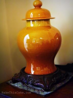 Asian antique Ginger Jar Bake This Cake