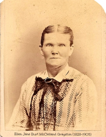 Ellen Jane Burt McClelland Grayston 1828-1905  photo of Leslie Odell Macchiarella