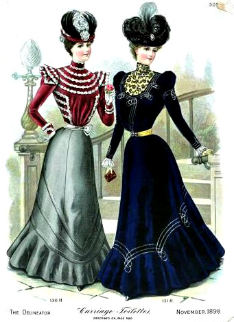 Womens Fashions in The Delineator November 1898 Vol 52 issue 5 bakethiscake