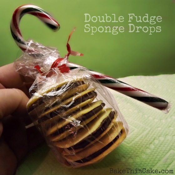 Double Fudge Sponge Drop Cookies recipe from BakeThisCake