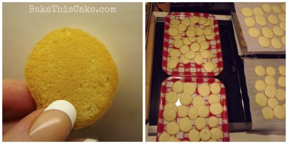 old-fashioned Sponge Cookies baked to light golden bake this cake