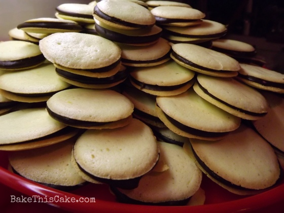 Sponge Cake Cookies piled up high for Christmas bake this cake