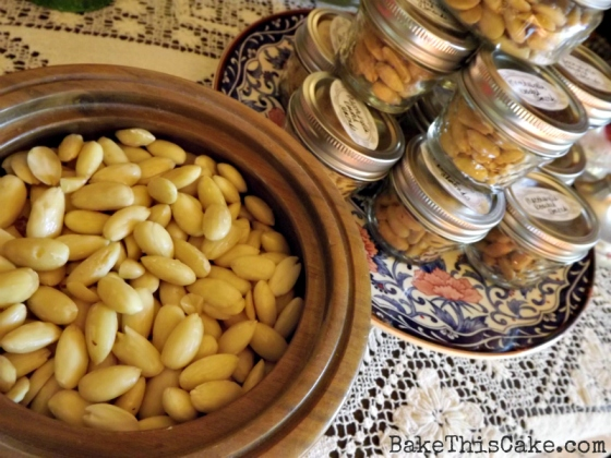 Homemade Roasted Almonds Kitchen Gifts in a jar by BakeThisCake