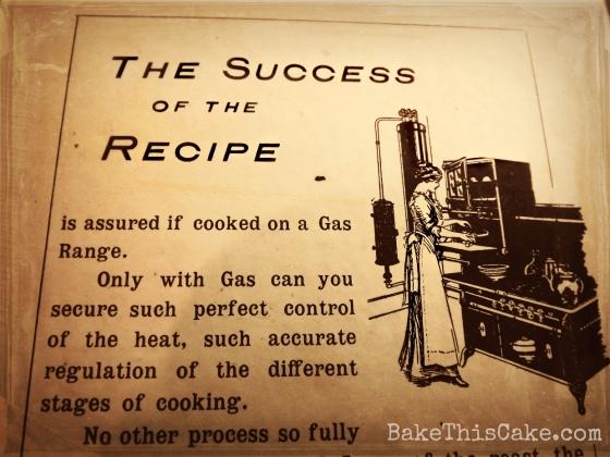 Kimball Class Cook Book Gas Range Ad 1913 bake this cake