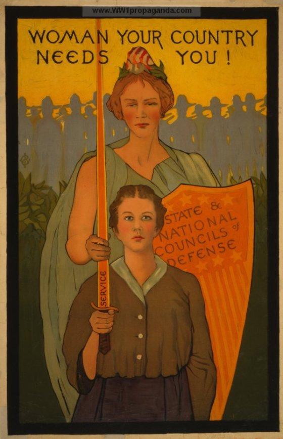 Women Your Country Needs You WWII Propaganda