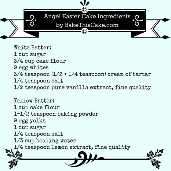 Vintage Angel Cake Recipe Ingredients List by bake this cake