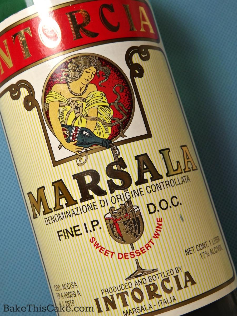Marsala wine sweet Italian wine bake this cake