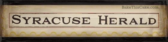 Syracuse Herald Newspaper 1932 masthead bakethiscake
