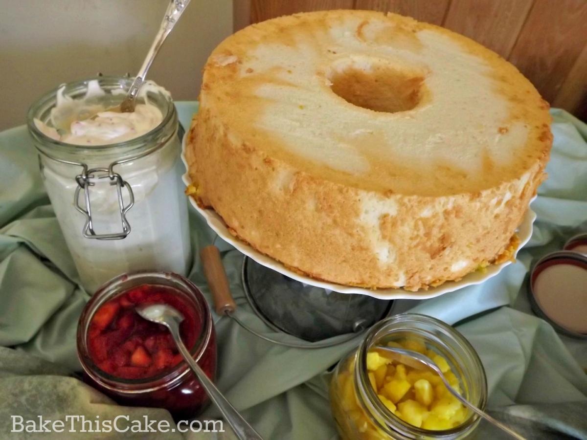 Vintage Easter Angel Cake served with Frases de Sarah Bernhardt by bakethiscake