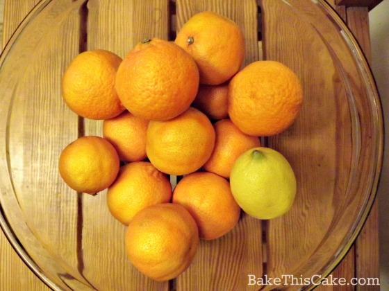 Clementine oranges for vintage honey orange cake by bakethiscake