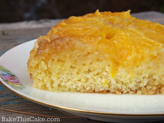 Honey Orange Upside Down Cake vintage recipe by bake this cake