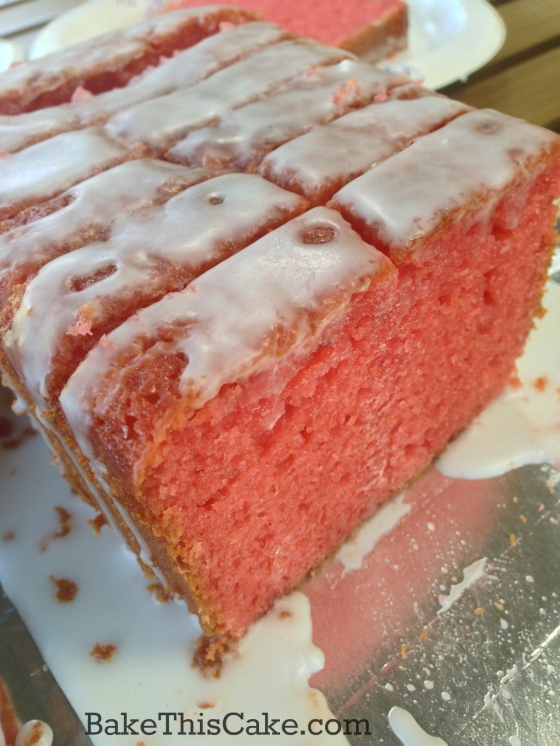 Strawberry Lemonade Cake strawberry pink loaf for a party by bakethiscake