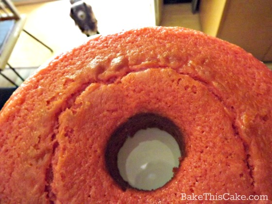 Pink Lemonade Pound Cake dog photobomb by bakethiscake