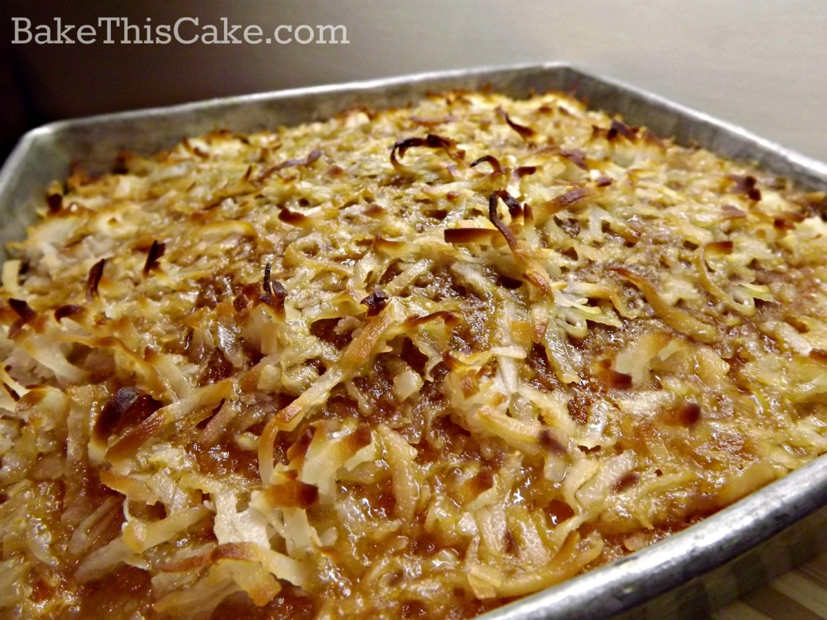 Lazy Daisy Cake with broiled coconut brown sugar topping by bakevthisvcake