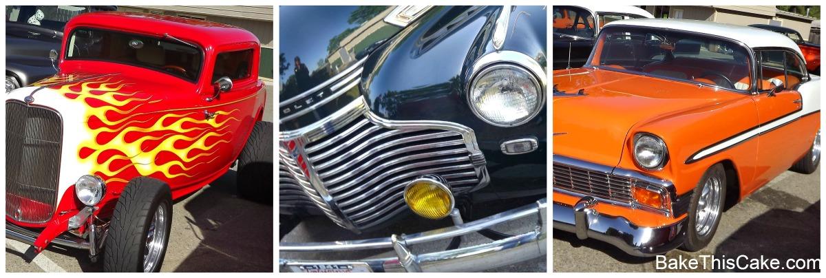 Snelling California vintage cars on Pancake Sunday bakethiscake