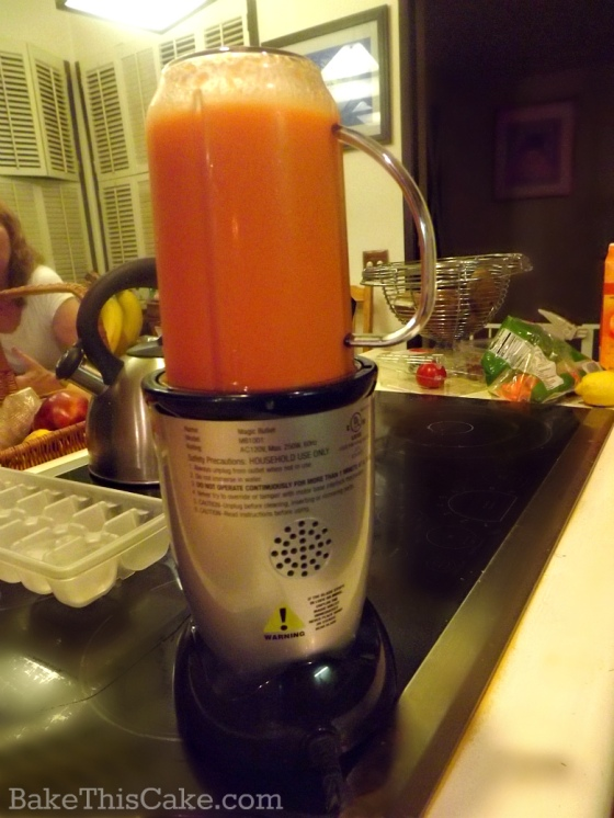 Homemade Carrot Juice using blender w Ginger and Orange by bakethiscake