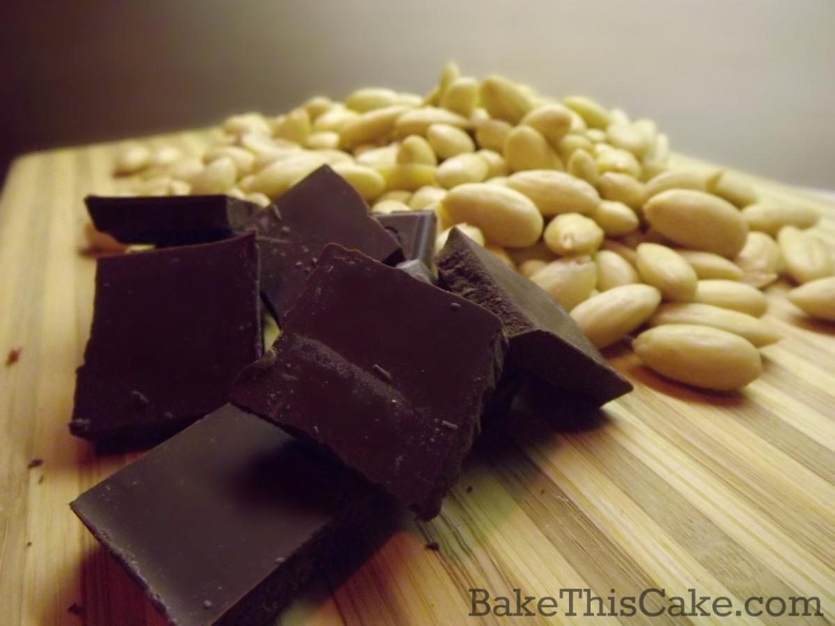 Bittersweet Dark Chocolate for Chocolate Almond Torte by bake this cake
