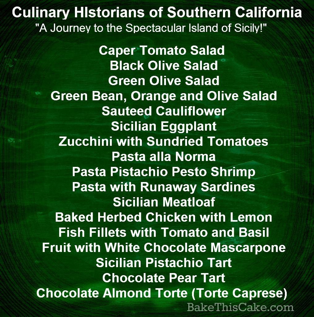 CHSC Culinary Historians of So Cal Sicilian potluck menu bake this cake.com