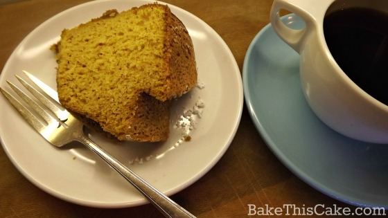 Coffee and Homemade Pumpkin Cake by bake this cake