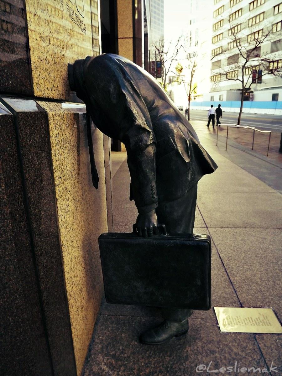 Corporate Head Sculpture by Terry Allen photo by Leslie Macchiarella