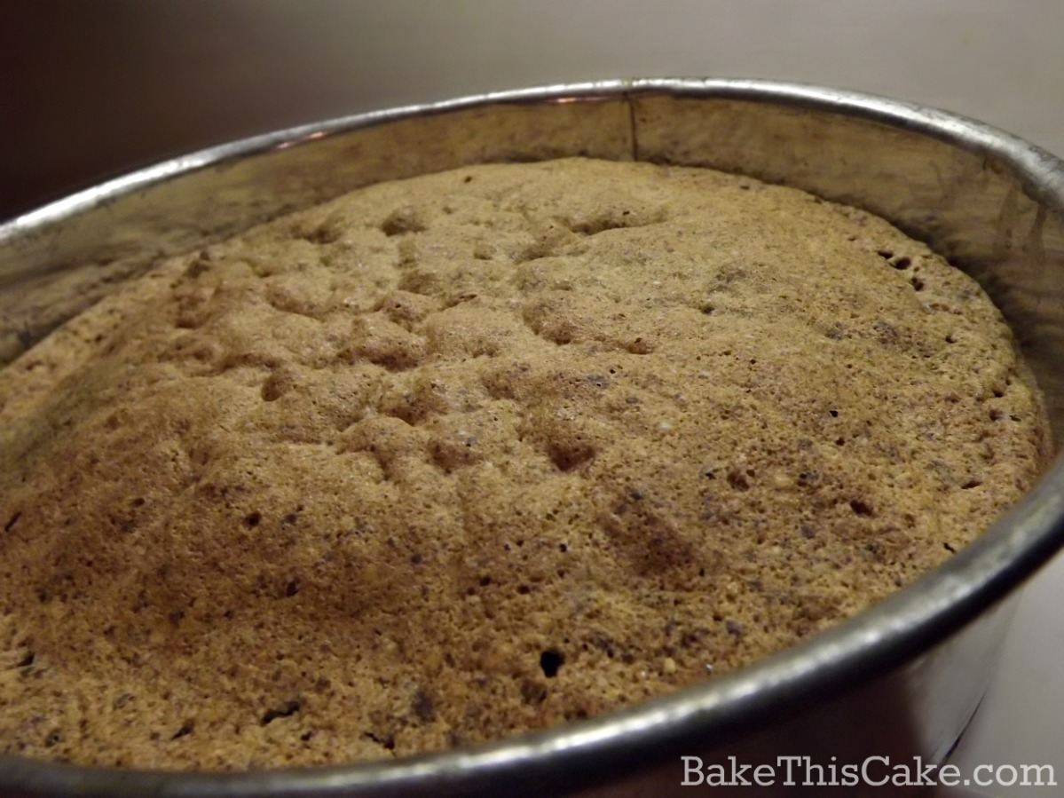 Italian Chocolate Almond Cake recipe puffed from the oven by bake this cake