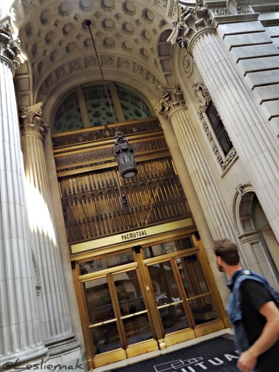 Pacific Mutual Building DTLA Downtown LA Entrance photo by Leslie Macchiarella
