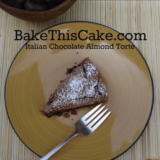 Vintage Italian Chocolate Almond Torte Caprese #cake recipe by bake this cake
